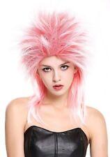 Wig Unisex Carnival 80er Wave Punk Popstar Red White Mix Backcombs