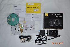 Nikon COOLPIX S9300 16MP 18X Optical Zoom GPS Black w/original box + case