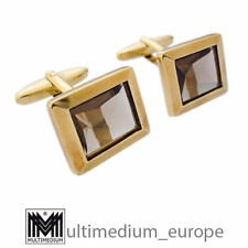 585 Gold Manschettenknöpfe Rauchquarz 14ct cuff links smokey quartz 🌺🌺🌺🌺🌺