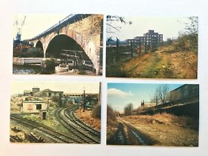 LONDON DOCKLANDS LIGHT RAILWAY Postcards Series 1 set of 4 Before The Railway
