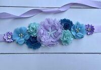 Mermaid Maternity Sash Belt / Mermaid Baby Showers Vintage Belt