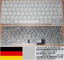 Clavier Qwertz Allemand SONY VGN-CW 550102917-035-G 9J.N0Q82.B0G 148755621 Blanc