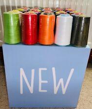 Overlocking Thread Polyester Industrial Sewing Machine - 5000 Yard 4572 M Cones