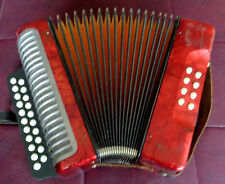 VITAGE !! Made in Germany Diatonic Button Accordion Hohner Erica C/F