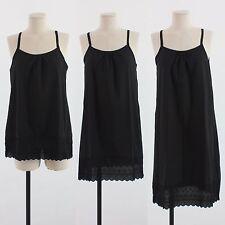 8752b1820fb Womens Cotton Black Lace Slip Underwear Sleepwear Dress Underskirt Petticoat
