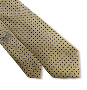 Hermes Men's Light Green Polka Dot Floral 100% Silk Tie 5357 OA France 3.75 Mint
