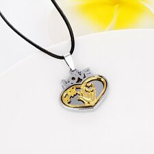 """Stainless Steel Lovely Heart Women's Pendant Necklace Love Jewelry 20"""" Chain Hot"""