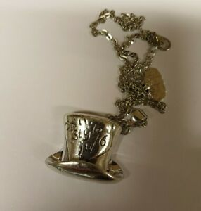 Mad Hatters Tea party necklace Alice in Wonderland TOP HAT time party drink me