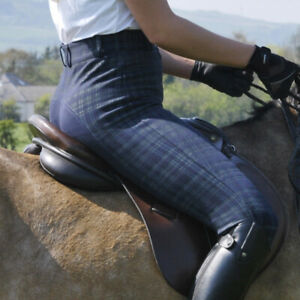 Ladies Essential Check Breeches - Navy only £20.00