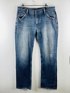 Riders Men's Distressed Denim Zip Close Jeans with Pockets Size 84 Blue