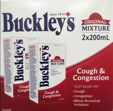 BUCKLEY'S original mixture Cough and Congestion 2 X 200 ml bottles