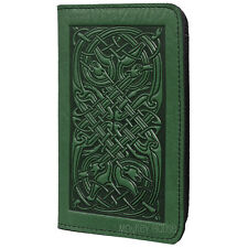 Celtic Hounds Green Leather Checkbook Cover by Oberon Design COMBINED SHIPPING
