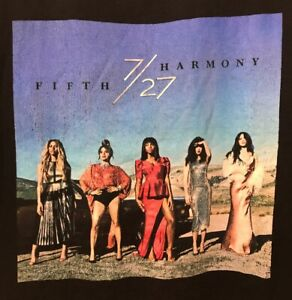 Vintage Fifth Harmony 7/27 Album Cover T-Shirt Band Tee Rap Tee Gently Worn