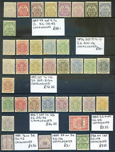 Transvaal 1885-97 range of reprints all unmounted mint (2019/04/28#04)