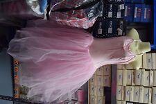 Pink halter tie romantic tutu - ballet - size 5 - UK 12-14