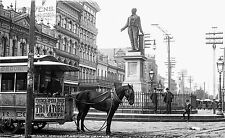 W.H. Jackson photo, Clay Monument, New Orleans Tram, Opera ad, 1890