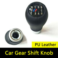 6 Speed PU Leather Manual Car Gear Shift Knob For BMW 5 7 series M E36 E46 E34