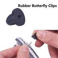 25 Pcs Rubber Lapel DIY Tie Tack Pin Pin Cap Jewelry Craft Back Holder Clasp/*