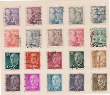 (Q20-44) 1940-55 Spain mix of 32stamps value to 4P (A)
