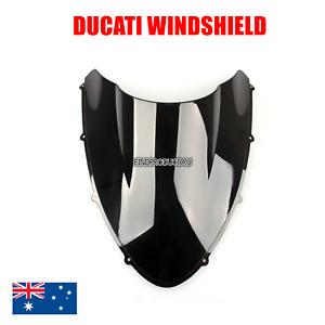 Black Double Bubble Windshield Windscreen Ducati 848 1098 1198 all year