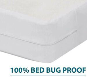 WATERPROOF BED BUG ALLERGY RELIEF MATTRESS COVER HypoAllergenic Encasement Vinyl
