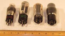 Lot of 4, 6Y6-G,80/J7M,5U4GB,41, TV Radio Tubes, Guitar Amp,Ham Radio
