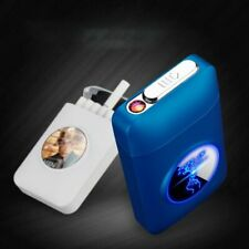 Metal Cigarette Case With USB Electronic Lighter Tobacco Cigarette Storage Box
