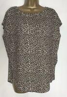 M&S Per Una Leopard Print Oversized Stretch Jersey Top Sizes 8 -24 (pu-102h)