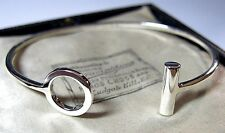 Stile vintage gioielli 925 in Argento geometrica astratta Bracciale Bangle