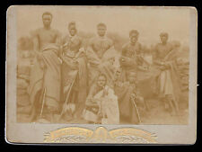 Captain Savile & Pondo Tribe South Africa 1898 Sends Christmas Wishes Victoria