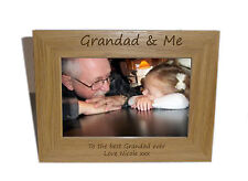 Grandad & Me Wooden Photo Frame 6x4 - Personalise this frame - Free Engraving