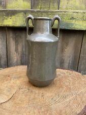 More details for antique art nouveau tudric pewter twin handle vase number 01478 howell & james