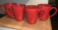 Four Cup Set In Red