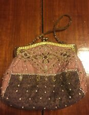 Vintage Christiana embroidered jeweled evening purse-bag-clutch