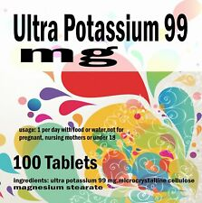 Ultra Potassium 99 mg - 100 Tablets