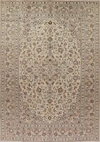 Decorative Vintage Ivory Ardakan Oriental Area Rug Wool Hand-Knotted 8x11 Carpet