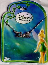 "Disney Fairies ""Tink"" Silver Rhinestone Girls/Ladies Necklace, Beautiful & New!"