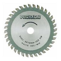 Hoja de sierra TCT para Proxxon Fet Sierra de MESA 702068 De Chronos 28732