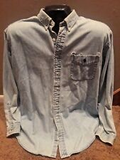Ralph Lauren Denim BIG SHIRT Men's BLEACHED Blue XL Authentic DISTRESSED