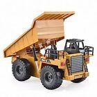 HuiNa Toys 1540 6 Channel 1/18 2.4GA Metal Dump Truck RC Charging Excavator Grab