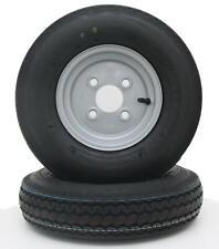 2 x Komplettrad 4.80-8 / 4.00-8 62M 8-Zoll Anhänger Rad Reifen Felge Delitire