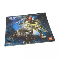 1 x Lego Bionicle Building Instruction Bionicle Warriors Maxilos & Spinax 8924