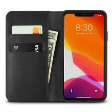 Moshi Overture Case w/ Magnetic Wallet for iPhone 11 Pro Max, SnapTo, Jet Black