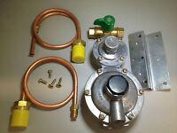 Caravan/Motorhome/RV LPG 2 Stage Regulator with 2 x 500mm POL Copper Pipe & Tap