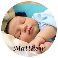 QUANTITY 4 CUSTOM PHOTO PERSONALIZED MATTE ROUND DRINK  COASTER PICTURE & TEXT