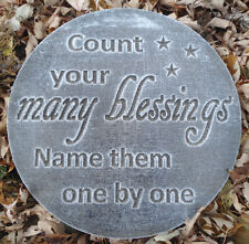"""Plaster Concrete Religious plaque plastic mold """" Count your many blessings"""""""