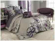VUE Provence Girls Twin Duvet Set Shabby Chic Sheer Floral Anastasia Purple Gray