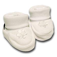 pantau.eu Babyschuhe Babyschühchen Erste Schuhe Taufschuhe Weiß mit großer Blume