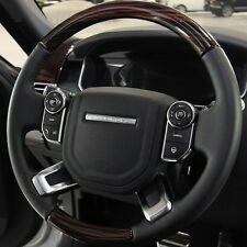 Range Rover L405 2013+ Ebony Macassar Wood & Leather Heated Steering Wheel NEW