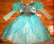 NEW! DISNEY WORLD Princess ARIEL Little Mermaid BALLGOWN Fancy Dress COSTUME 4/5
